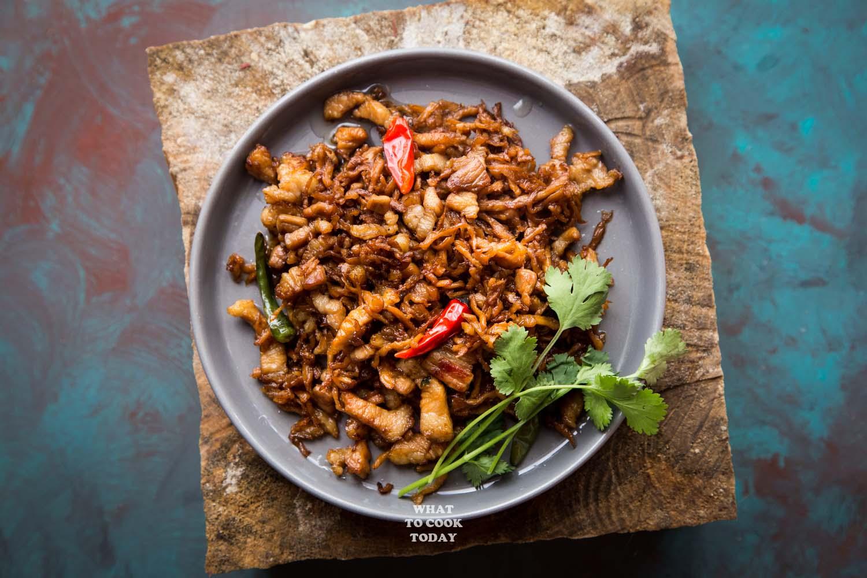 Stir-fried Chai Poh with Pork Belly #porkbelly #chaipoh #radish #easyrecipes