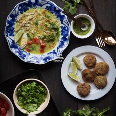 Soto Ayam Medan (Chicken Soup in Coconut Milk)
