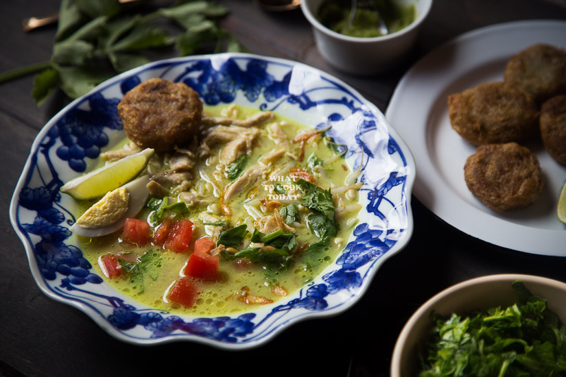 How to make Soto Ayam Medan (Chicken Soup in Coconut Milk)