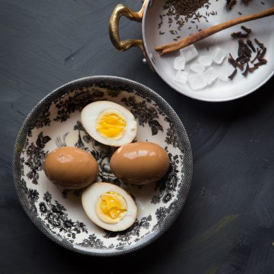 Spiced boiled eggs (Telur Kecap)