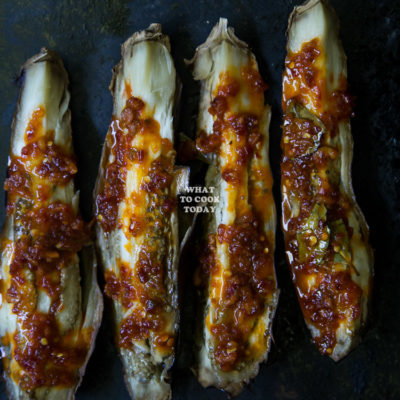 Sambal Terong Bakar/ Roasted Eggplants with Sambal