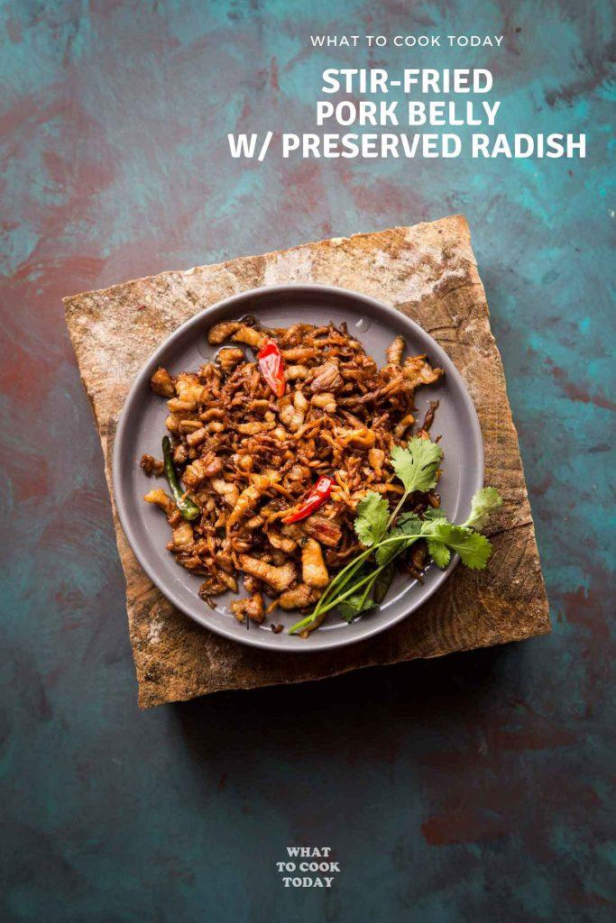Stir-fried Chai Poh with Pork Belly