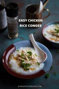 Easy Chicken Rice Congee / Porridge (Bubur Ayam)