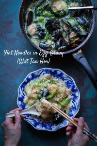Kwe Tiau Siram (Flat Noodles in Egg Gravy / Wat Tan Hor)