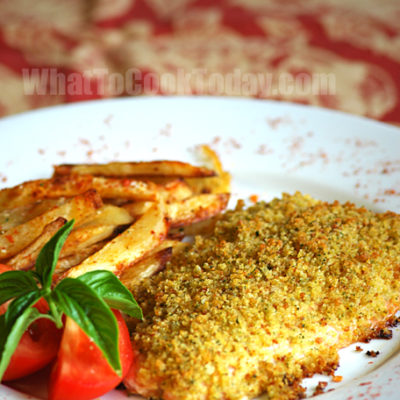 CRUNCHY-TOPPED FISH WITH POTATOES