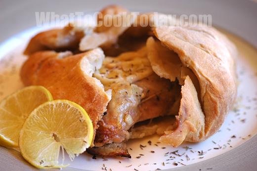 flour and water crust chicken