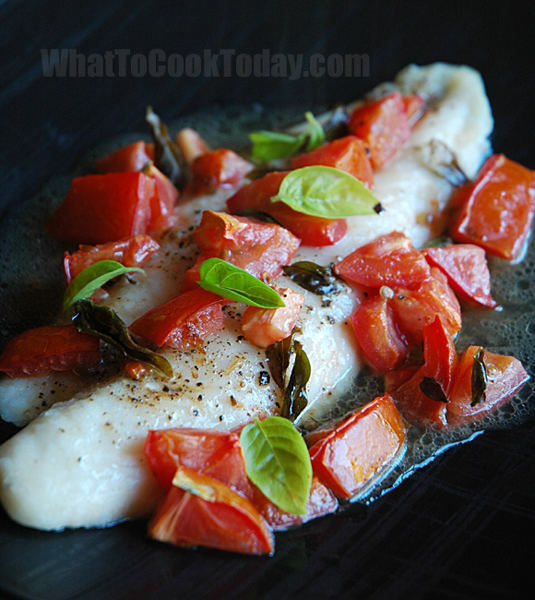 Roasted swai fish with tomatoes and basil for Is swai fish good
