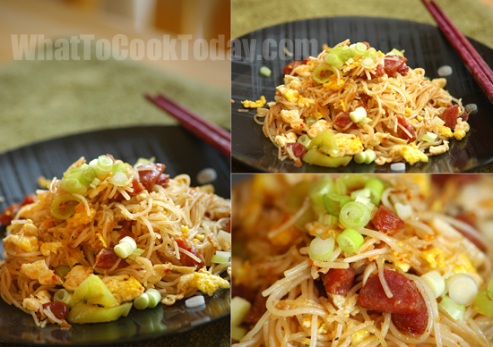 rice vermicelli stir fry / char bee hoon