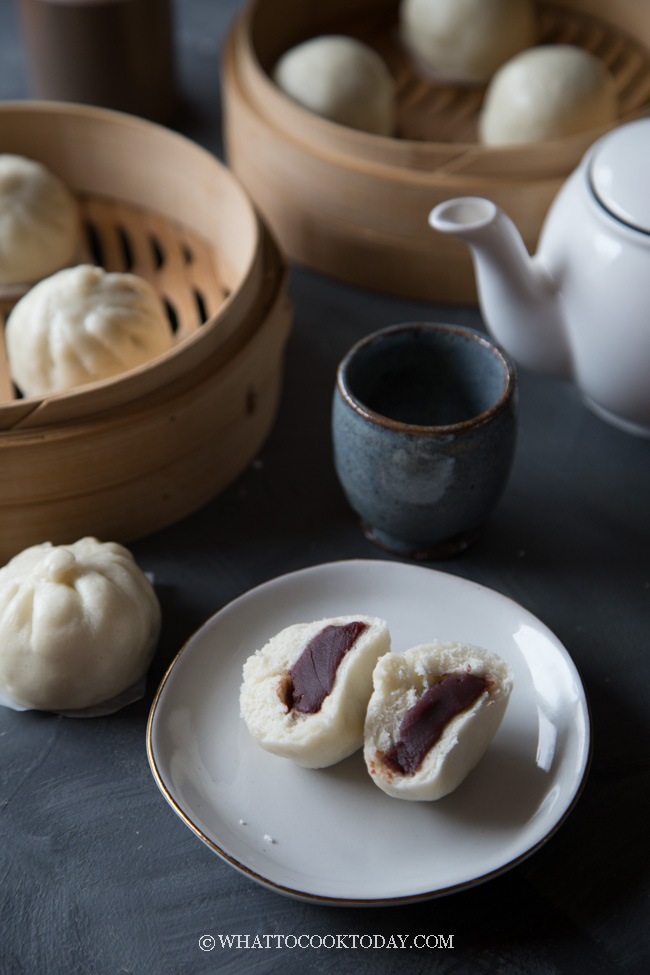 Best Homemade Dou Sha Bao (Red Bean Paste Steamed Buns)