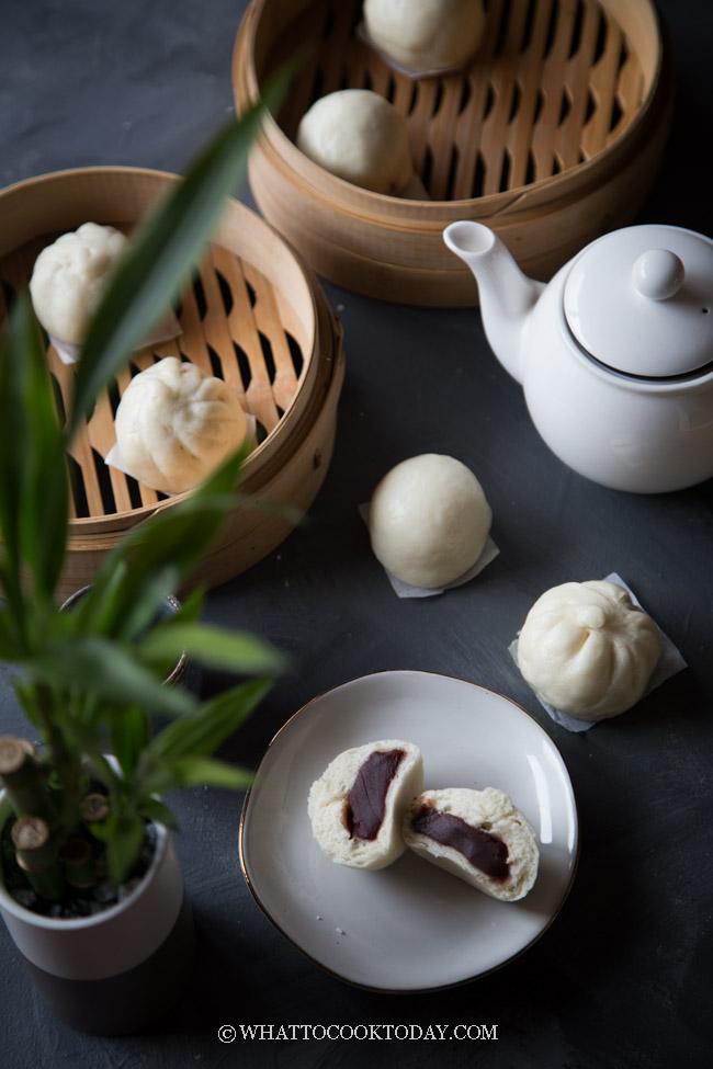 Best Homemade Dou Sha Bao (Red Bean Paste Steamed Buns)