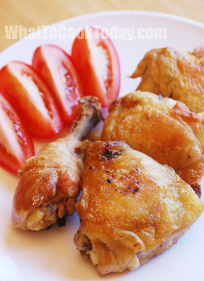 Soy sauce and garlic fried chicken