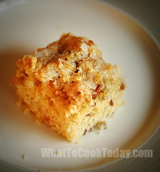 Almond Rhubarb Coffeecake