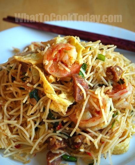 rice vermicelli stir fry