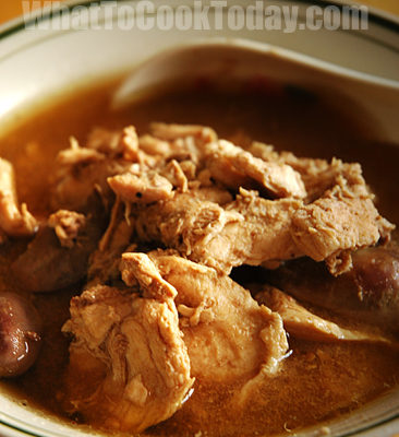 CHICKEN DOUBLE BOILED WITH DOM BENEDICTINE LIQUEUR