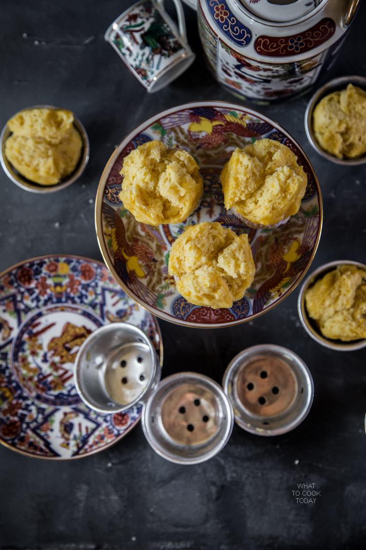 What To Cook Today: Pumpkin moho kue (Steamed pumpkin cupcakes).Made with coconut milk, pumpkin (or sweetpotatoes or potatoes), yeast, and brown sugar. Light tasting cake