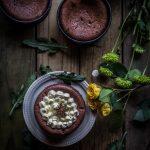Five-spice flourless chocolate cakes