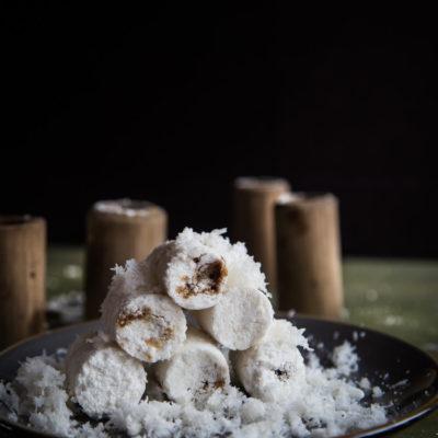 Indonesian Putu Bambu (Steamed Rice Cake in Bamboo)-updated