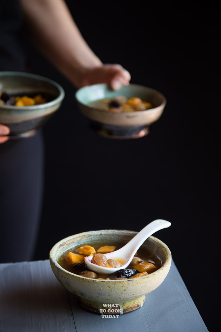 How to make Sweet Potato Ginger Soup. Delicious Easy Asian Sweet Potato Ginger Soup recipe. Click through for full recipe and step by step instructions width=