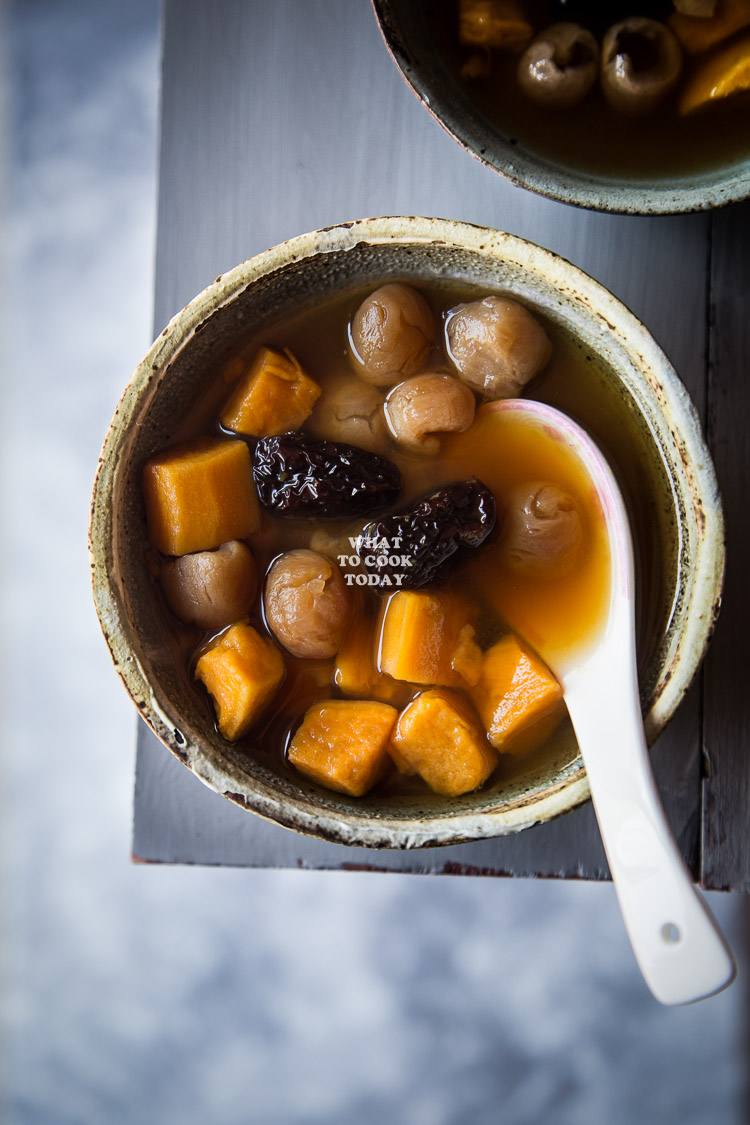 How to make Sweet Potato Ginger Soup. Delicious Easy Asian Sweet Potato Ginger Soup recipe. Click through for full recipe and step by step instructions