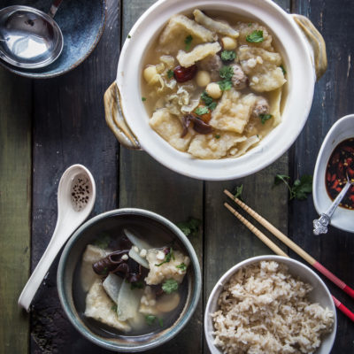 Fish maw snow fungus soup