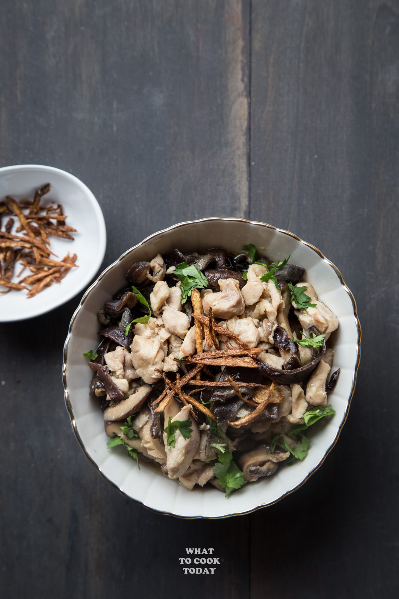 Chicken Mushrooms with DOM Benedictine #chicken #Mushroom #dombenedictine #easyrecipe #confinement