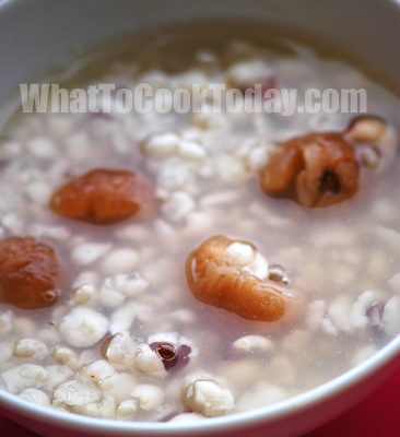BARLEY WITH QIAN SHI AND LONGAN SOUP