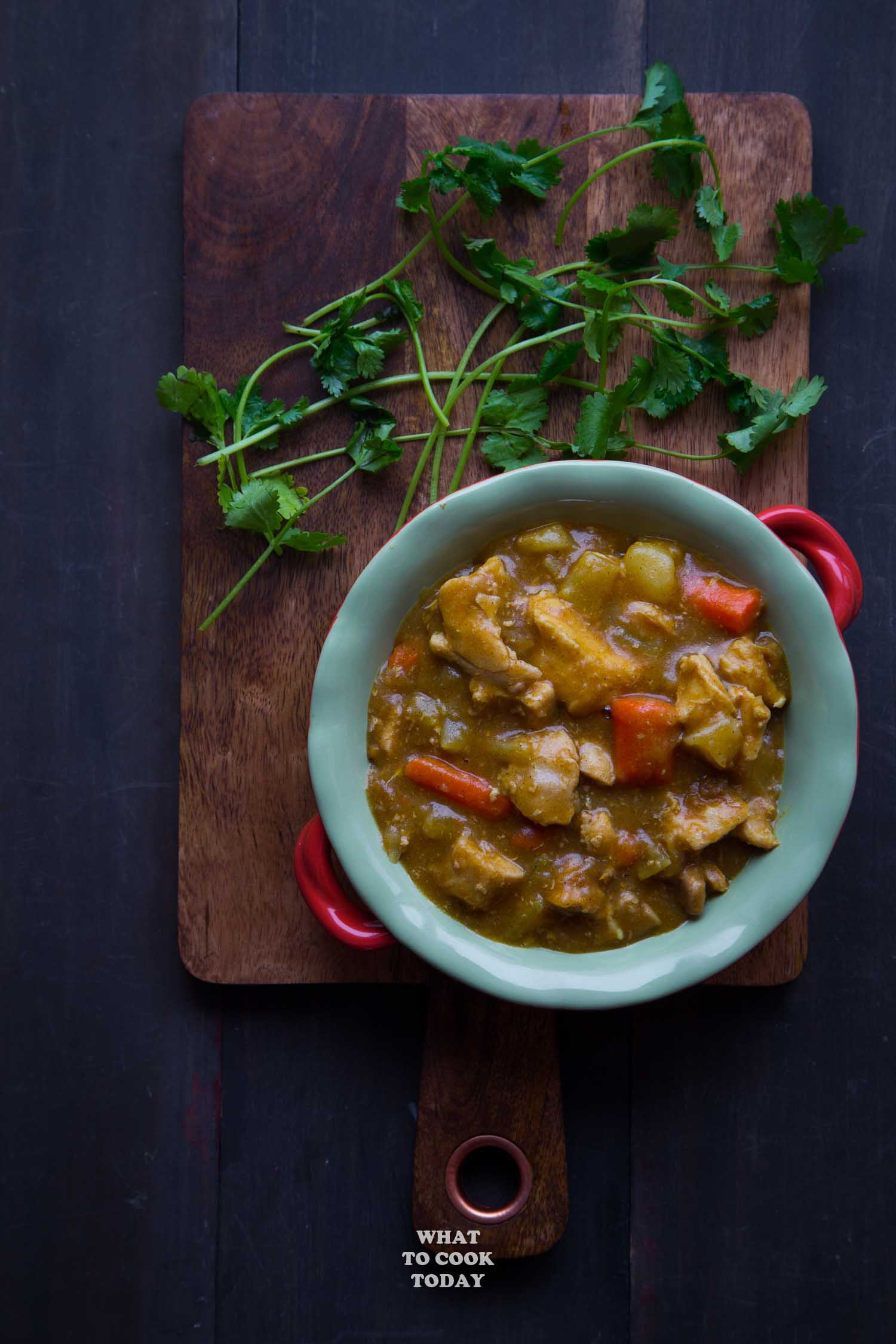 Super Easy Pressure Cooker Japanese Chicken Curry