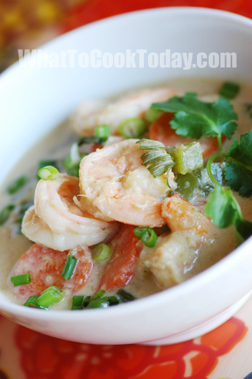 THAI GREEN CURRY WITH SHRIMP | What To Cook Today