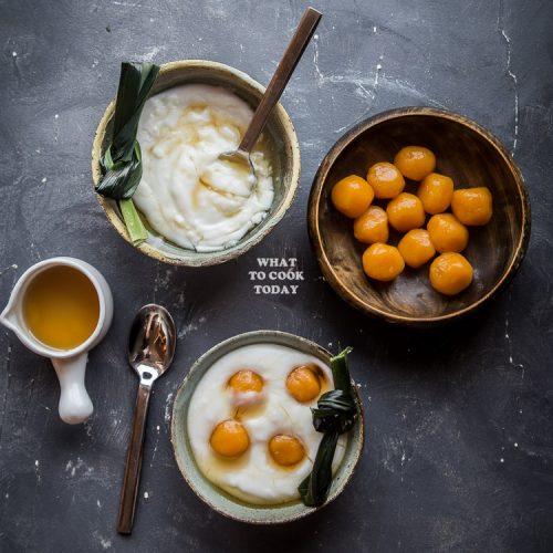 Bubur Sum Sum Indonesian Sweet Coconut Rice Porridge