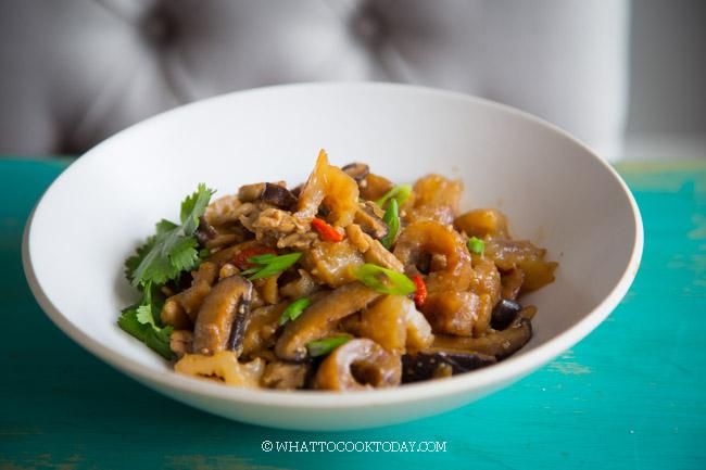 Easy Sea Cucumber, Chicken, Mushroom Stir-fry