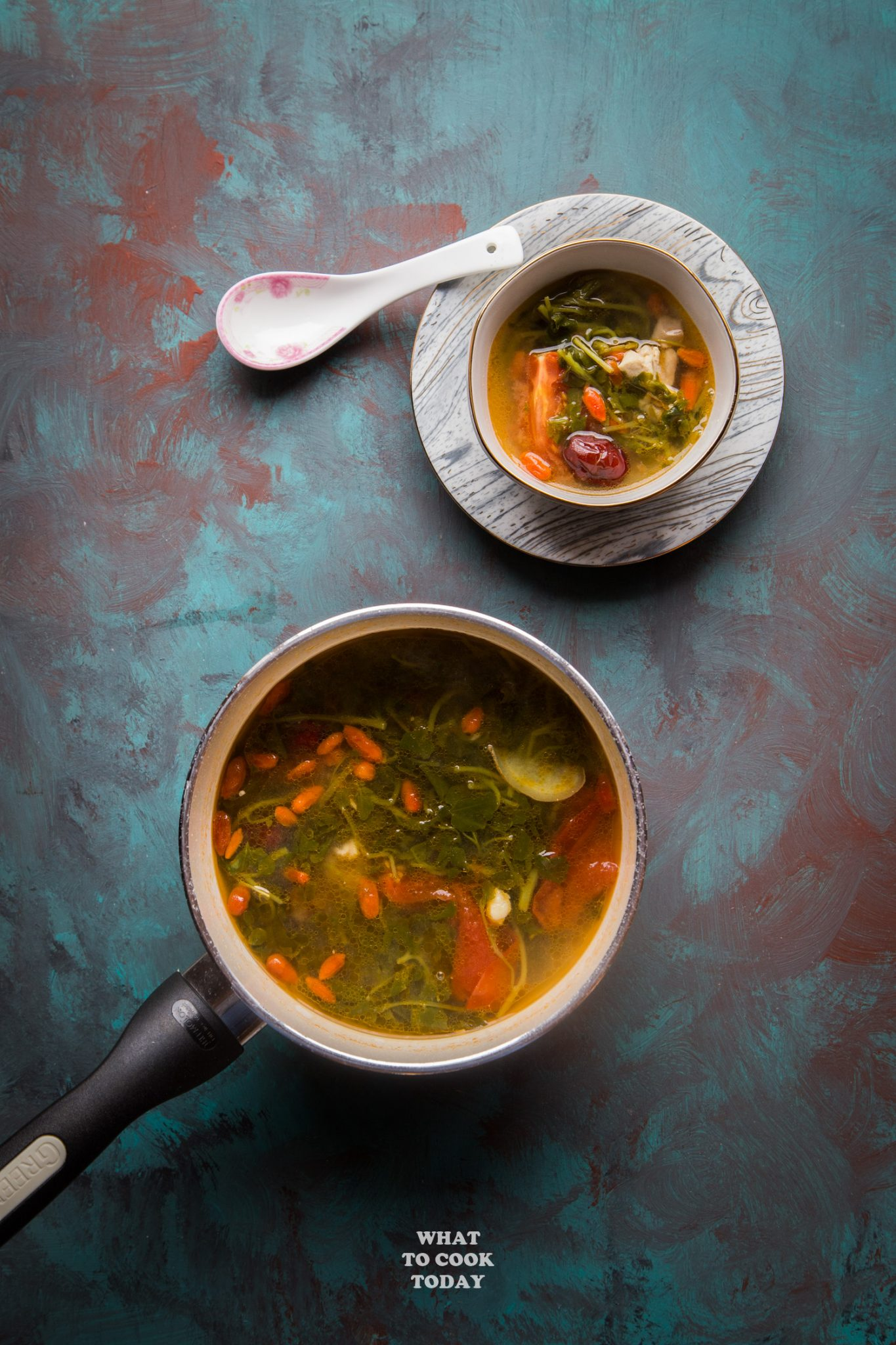 Chinese Watercress Soup (Sai Yong Choy Tong) #soup #watercress #chinesesoup #instantpot