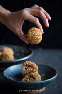Chinese Crispy Sesame Balls (Jian Dui/ Zi Ma Qiu)