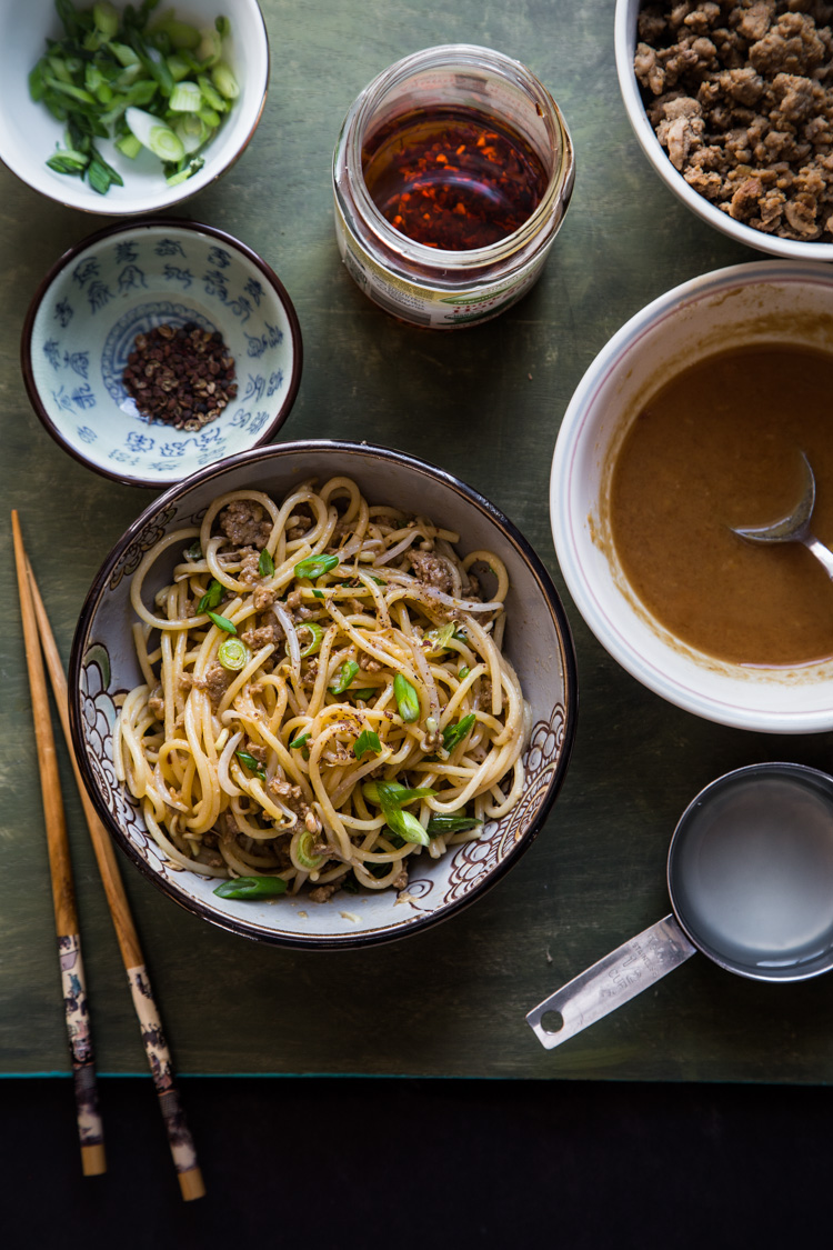 Dan Dan Mian (Spicy Szechuan Noodles) is one of my favorite noodles tossed in spicy sauce and topped with minced/ground meat and numbing Szechuan peppercorns