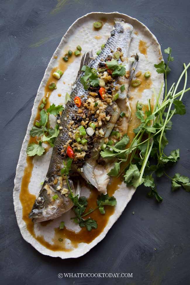Chinese Steamed Whole Fish with Black Bean Sauce