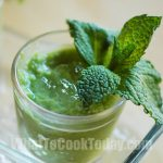 SWEET-PEA SOUP WITH CRUSHED MINT ICE