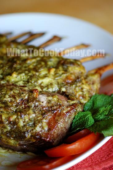 Roast Rack Of Lamb And Mint