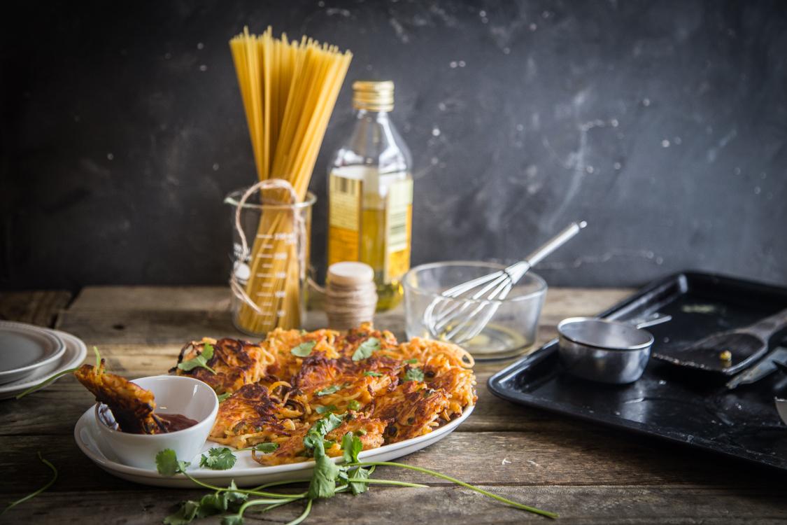 Spaghetti fritters