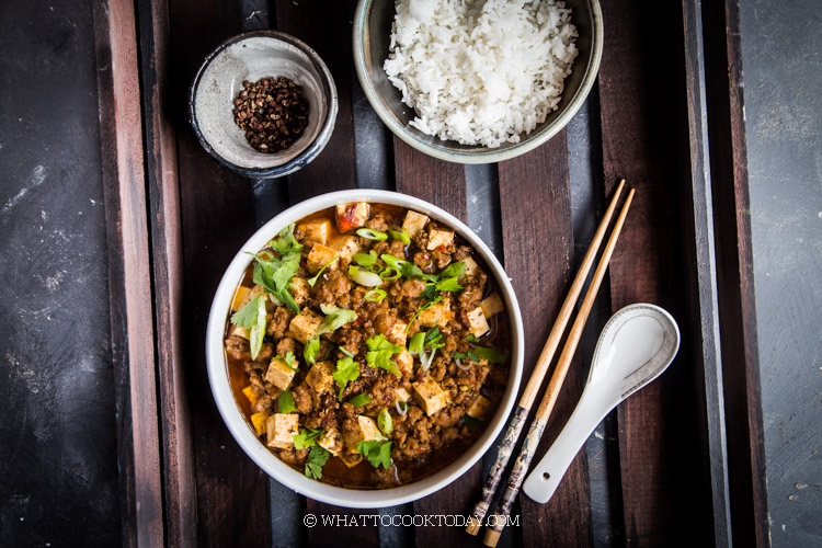 Easy MaPo Tofu (Spicy Sichuan Minced Meat Tofu)