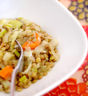 WARM FRENCH LENTILS