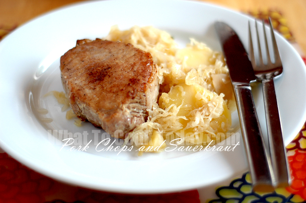 PORK CHOPS AND SAUERKRAUT/ SCHWEINEKOTELETTE UND SAUERKRAUT (2 to 4 ...