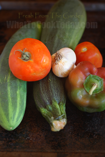 Produce fresh from the garden