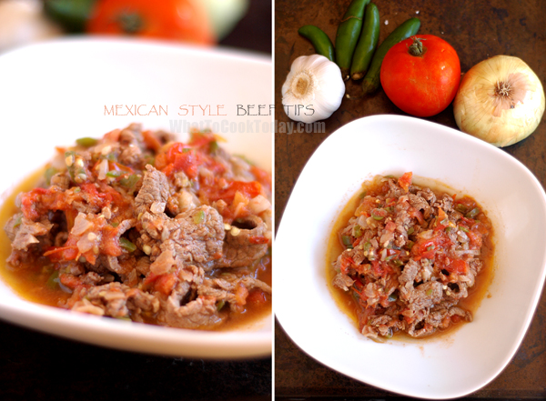MEXICAN STYLE BEEF TIPS