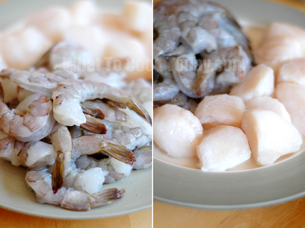 prawns and scallops