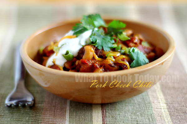 PORK CHEEK CHILI