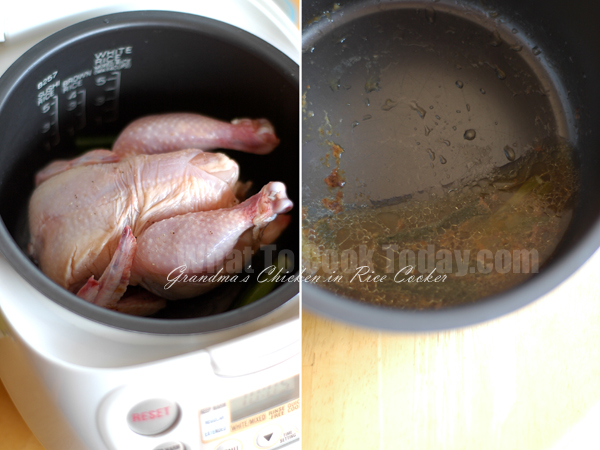 GRANDMA'S CHICKEN IN RICE COOKER