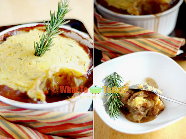 SHEPHERD'S/COTTAGE PIE WITH RUTABAGA TOPPING
