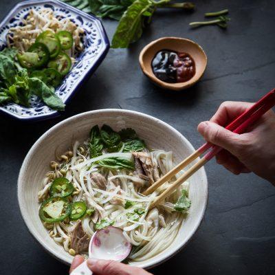 Pressure Cooker Pho Ga (Vietnamese Chicken Pho Noodle Soup)