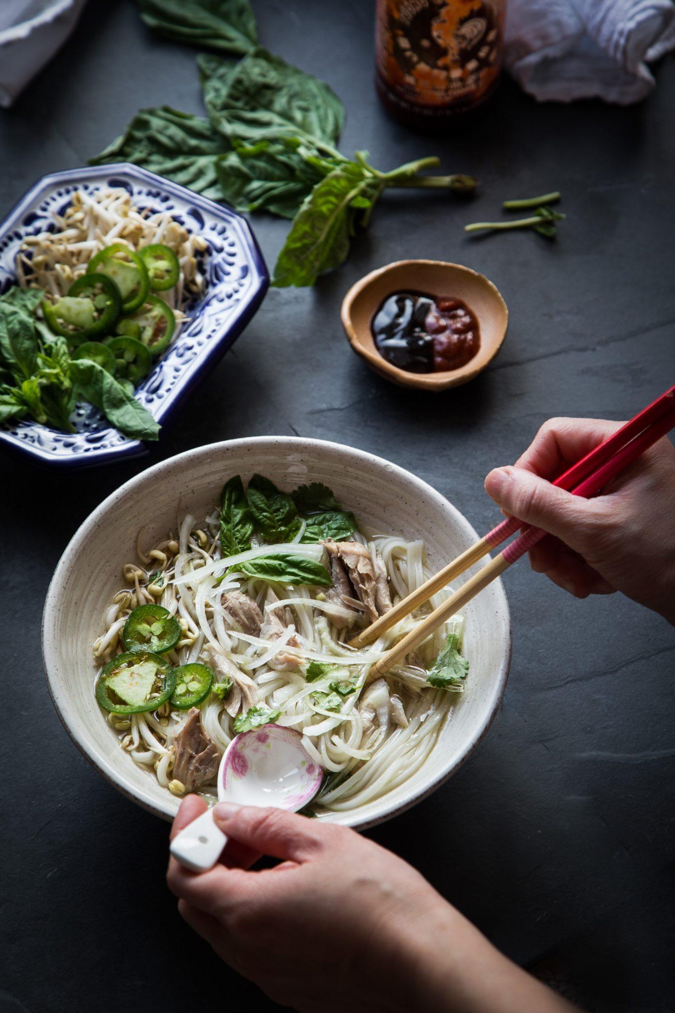 Pressure Cooker Pho Ga (Vietnamese Chicken Pho Noodle Soup) #instantpot #pho #phoga #pressurecooker #vietnamesepho
