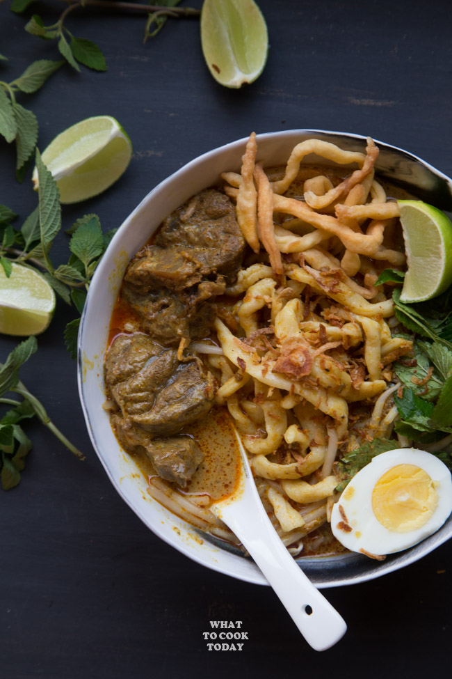 Pressure Cooker Beef Khao Soi (Chiang Mai Beef Curry Noodles)