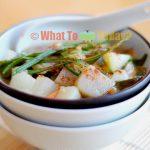TONJIRU/ PORK AND VEGETABLE MISO SOUP